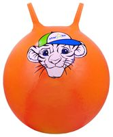 """Мяч-попрыгун """"Тигрёнок"""" (55 см; с рожками; оранжевый)"""