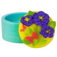 """Форма для изготовления мыла """"Бабочки в цветах"""""""
