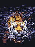"Картина по номерам ""Тигр в воде"" (400х500 мм)"
