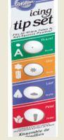 Набор насадок пластиковых для кондитерского мешка (4 шт; арт. WLT-418-621)