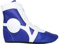 Обувь для самбо SM-0102 (р.31; кожа; синяя)