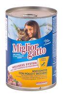 """Консервы для кошек """"Gatto"""" (405 г; курица и индейка)"""