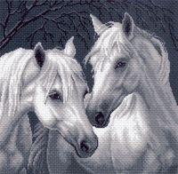 """Канва с нанесенным рисунком """"Лошади"""" (арт. 1537)"""