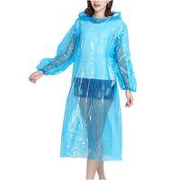 Дождевик-пончо c рукавами (голубой)