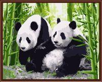 """Картина по номерам """"Панды"""" (400х500 мм)"""