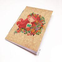 """Блокнот крафт """"Девушка с цветами"""" (А5; арт. 939)"""