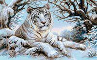 """Вышивка крестом """"Бенгальский тигр"""""""