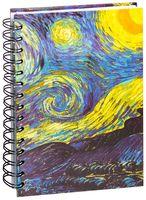 """Скетчбук """"Ван Гог. Звездная ночь"""" (А5)"""