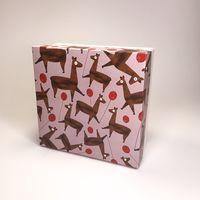 """Подарочная коробка """"Ламы с шариками"""" (16х16x7,5 см)"""