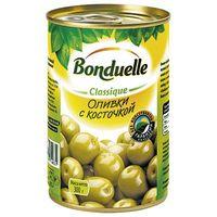 """Оливки зеленые """"Bonduelle. С косточкой"""" (314 мл)"""