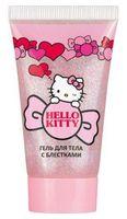 "Гель для тела с блестками ""Hello Kitty"" (тон: 02, неоново-розовый)"