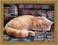 """Алмазная вышивка-мозаика """"Персидский кот"""" (400х300 мм)"""