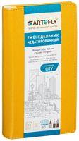 """Еженедельник недатированный """"City"""" (80x160 мм; желтый)"""