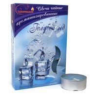 """Набор свечей ароматизированных в металлической гильзе """"Голубой лед"""" (6 шт.)"""