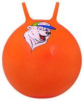 """Мяч-попрыгун """"Медвежонок"""" (65 см; с рожками; оранжевый)"""