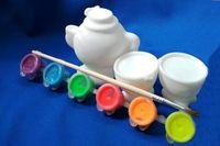 """Набор игрушек для купания """"Чайный. Раскрась сам"""" (5 шт.)"""
