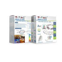 Комплект RGB светодиодной ленты V-TAC VT-5050 10 ВТ, 5 метров, 3000К, 12V, IP20