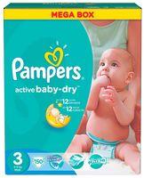 "Подгузники ""Pampers Active Baby-Dry Midi"" (4-9 кг, 150 шт, арт. 0001010720)"