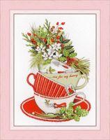 "Вышивка бисером ""Жасминовый чай"" (200х160 мм)"