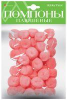 Помпоны плюшевые (40 шт.; 25 мм; розовые)