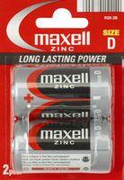 Батарейка R20 Maxell цинковая (2 штуки)