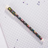 """Ручка гелевая черная """"Happy Friends"""" (0,38 мм; черный корпус)"""