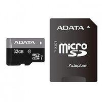 Карта памяти SDHC-micro 32GB A-Data AUSDH32GUICL10-RA1 Class 10 UHS-I + SD Adapter