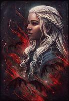 """Магнит на холодильник """"Мать драконов"""""""