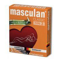 """Презервативы """"Masculan. Classic 3. С колечками и пупырышками"""" (3 шт.)"""