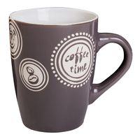 """Кружка керамическая """"Coffee Time"""" (320 мл; темно-серая)"""