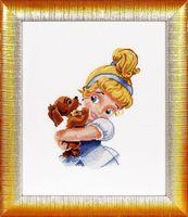 """Вышивка крестом """"Девочка с собачкой"""" (160х220 мм)"""