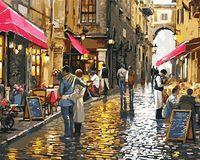 """Картина по номерам """"Уличные кафе"""" (400х500 мм)"""
