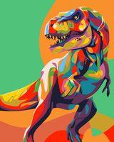 """Картина по номерам """"Радужный динозавр"""" (500х400 мм)"""