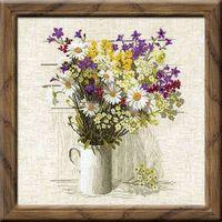"""Вышивка крестом """"Полевые цветы"""" (450х450 мм)"""