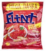 """Сухарики пшенично-ржаные """"Flint"""" (110 г; красная икра)"""