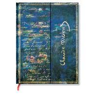 """Записная книжка в линейку """"Клод Моне. Водяные лилии, письмо к Моризо"""" (180х230 мм)"""