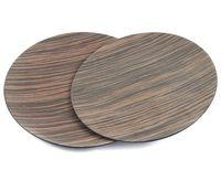 Набор тарелок декоративных (2 шт, 29,5/28 см, дерево/пластмасса)