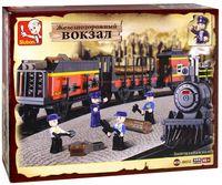 """Конструктор """"Железнодорожный вокзал. Вагоны для поезда"""" (225 деталей)"""
