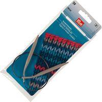 Спицы круговые для вязания (алюминий; 7 мм; 40 см)