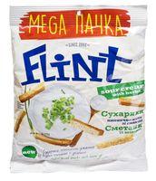 """Сухарики пшенично-ржаные """"Flint"""" (110 г; сметана и зелень)"""