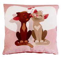 """Подушка """"Коты с сердечками"""" (33х33 см)"""