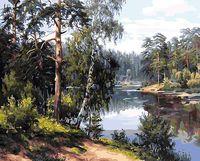 "Картина по номерам ""Лесная река"" (400х500 мм)"