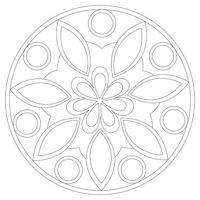 """Трафарет для рисования песком """"Мандала №4"""" (21x21 см)"""