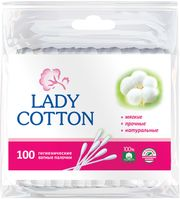 "Ватные палочки ""Lady Cotton"" (пакет; 100 шт.)"