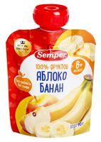 """Детское пюре Semper """"Яблоко и банан"""" (90 г)"""
