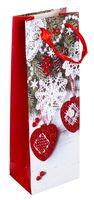"""Пакет бумажный подарочный """"Елочная игрушка"""" (13х36х8,5 см; арт. ABB300110)"""