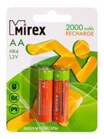 Аккумулятор NiMH АА Mirex 2000 мАч (2 шт; арт. 23702-HR6-20-E2)