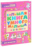 Большая книга умного малыша 3-5 лет. Учение с увлечением для почемучек