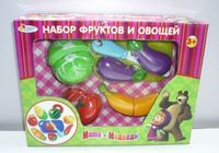 """Игровой набор """"Маша и Медведь. Овощи и фрукты"""" (арт. B847981-R)"""