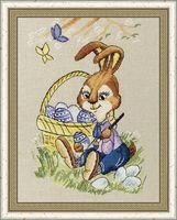 """Вышивка крестом """"Пасхальный кролик"""" (207х138 мм)"""